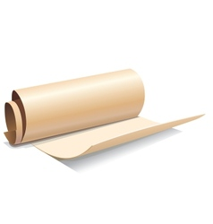 Ancient paper roll icon vector