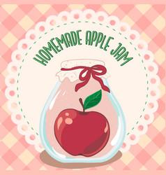 Apple jam jar preserve jam jar vector