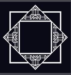 Art deco frame border vector