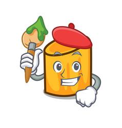 artist rigatoni character cartoon style vector image