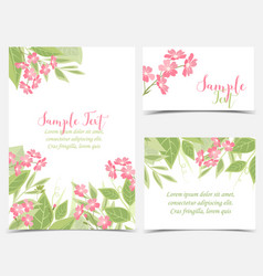 Backgrounds with pink flowers vector