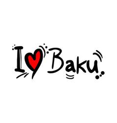 baku love message vector image