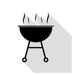 barbecue simple sign black icon with flat style vector image