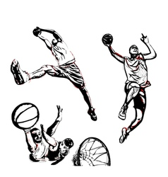Basketball trio vector