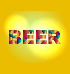 Beer concept colorful word art vector