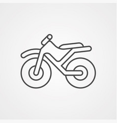 bike icon sign symbol vector image