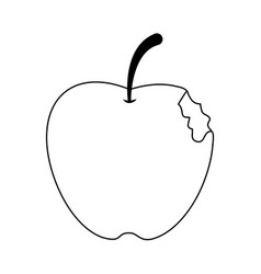 Bitten apple fruit icon image vector