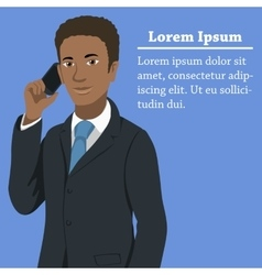 Black afroamerican business man concept vector