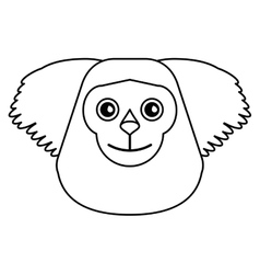 Black bearded saki animal brazil outline vector