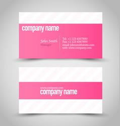 Business card design set template vector