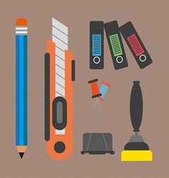 Business elements infographic with icons and offic vector image