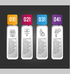 business infographic data progress report vector image