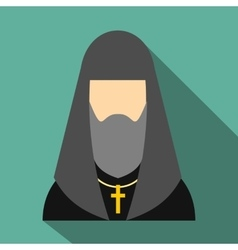 Christian russian priest flat icon vector image