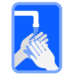 Clean hands symbol vector