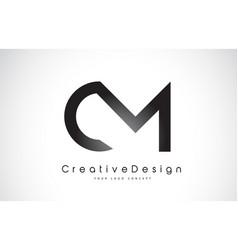 Cm c m letter logo design creative icon modern vector