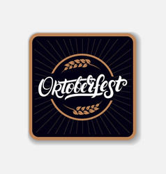 Coaster for beerl with hand written lettering word vector