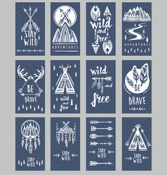 collection of cards templates on the theme vector image