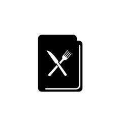 cooking recipe cook book flat icon vector image