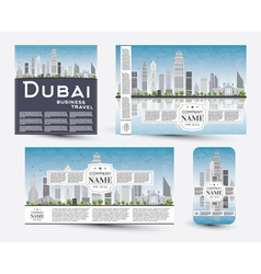 Corporate Identity templates set with Dubai vector image