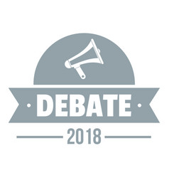 Debate logo simple gray style vector