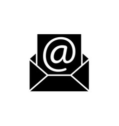 E-mail icon black on white vector