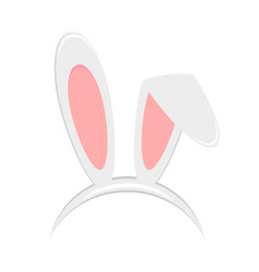 Easter bunny ears mask isolated on white vector