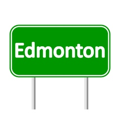 Edmonton road sign vector