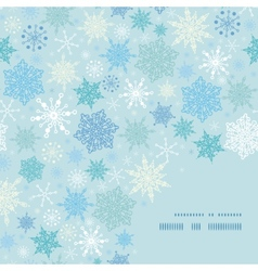 Falling snow frame corner pattern background vector