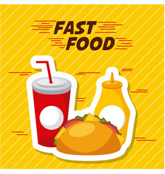 Fast food restaurant menu brochure vector