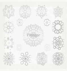 flat design elements in vintage style drawing vector image