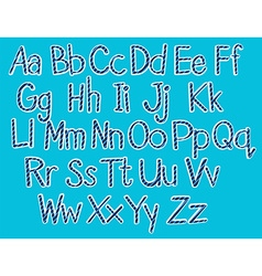 Font design for english alphabets vector
