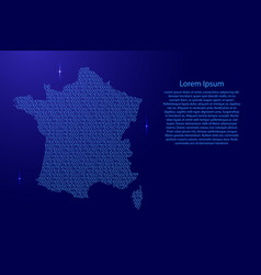 france map abstract schematic from blue ones and vector image