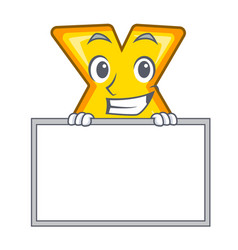 Grinning with board character cartoon multiply vector