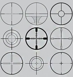 gun crosshairs silhouettes vector image vector image