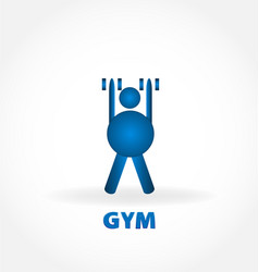 gym healthy and fit person vector image