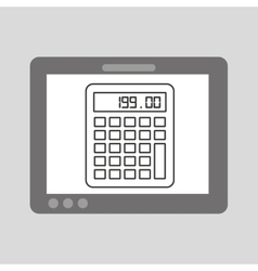 Hand touch calculator financial vector