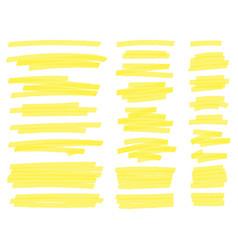 Highlight marker lines yellow text highlighter vector