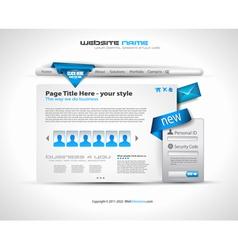hightech website vector image