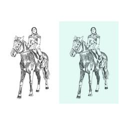 Horseback rider vector