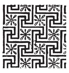 Key pattern are examples of greek art vintage vector