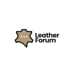 Leather talk forum chat community logo icon vector