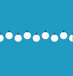 merry christmas volleyball seamless horizontal vector image