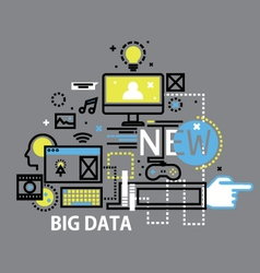 mobile cloud computingflat design banners vector image