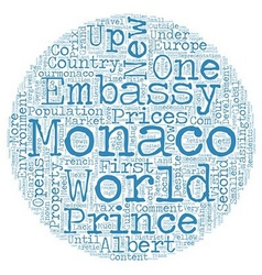 Monaco Gets Active And Opens New US Embassy text vector image