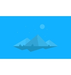 Mountain cartoon flat of silhouette vector