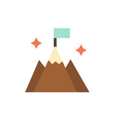Mountain flag user interface flat color icon icon vector