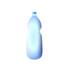 Oblong plastic water bottle design with clipping vector