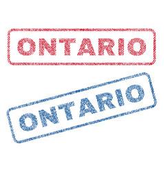 Ontario textile stamps vector