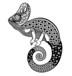 ornate chameleon vector image