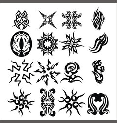 pack of tribal tattoo set vector image